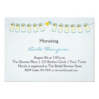 Mason Jar Bunting, Bridal Shower Card