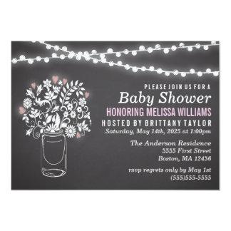 Mason Jar Chalkboard Baby Shower Invitation