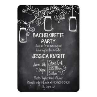 Mason Jar Chalkboard Rustic Bachelorette Party Card