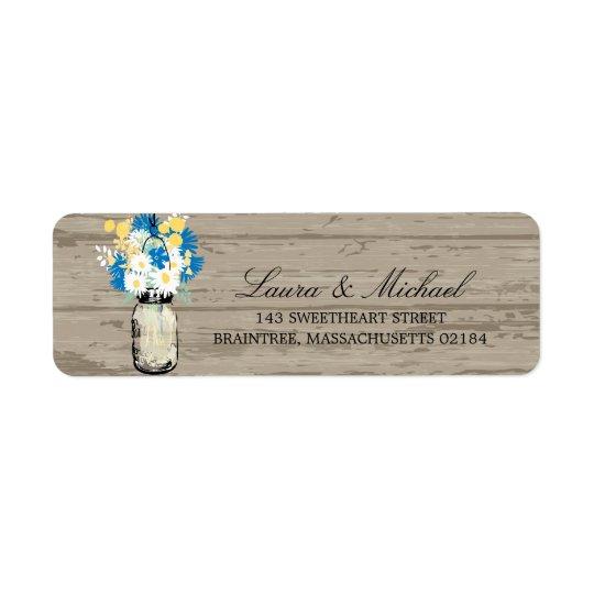 Mason Jar Flowers | Return Address