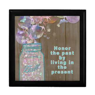 Mason Jar Honor the Past by Living in the Present Gift Boxes