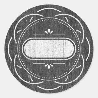 Mason Jar label - chalkboard series Round Stickers