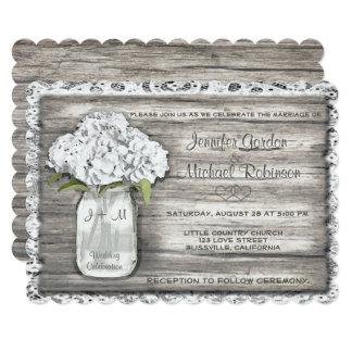 Mason Jar Monogram Wedding Invitation
