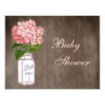 Mason Jar & Pink Hydrangea Rustic Baby Shower