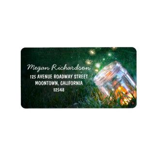 mason jar romantic night lights address label