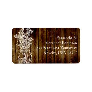 Mason Jar Stamp on Dark Wood Plank