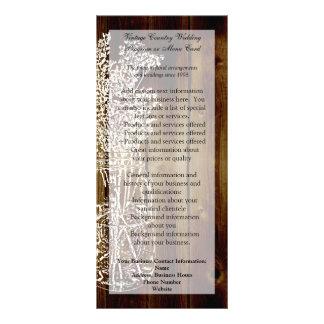 Mason Jar Stamp on Dark Wood Plank Custom Rack Cards