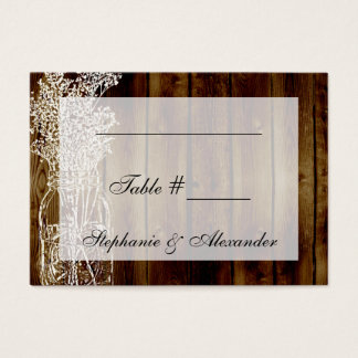 Mason Jar Stamp Table Seating Place Cards