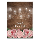 Mason Jar String Lights Rose Place Names Escort Card