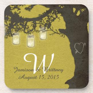 Mason Jar String Lights Vintage Tree Coasters