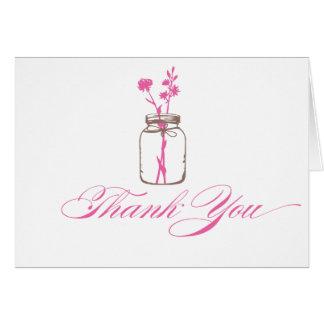 Mason Jar Thank You Notecard
