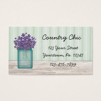 Mason Jar Violets Business Card