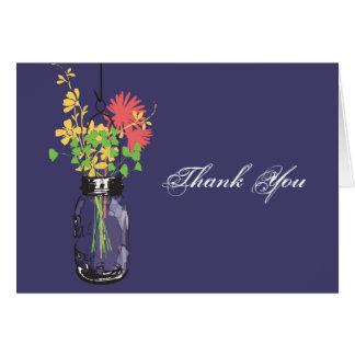 Mason Jar & Wild Flowers Card