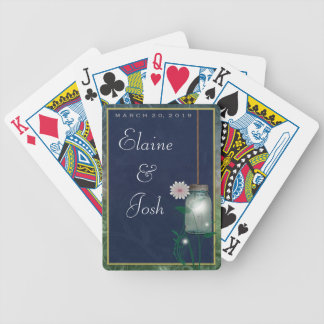 Mason Jar with flowers and greenery Bicycle Playing Cards