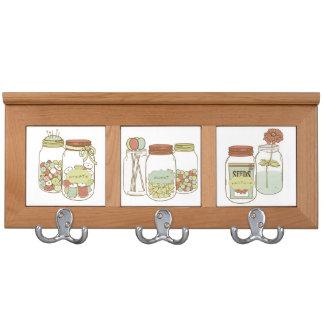 Mason jars coat rack
