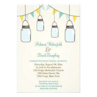 Mason Jars Country Theme Wedding Invitation