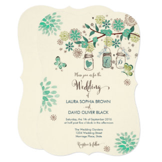Mason Jars Wedding Invitation | Wedding Invitation