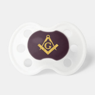 Mason Masonic Product on Brown Pacifiers