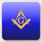Mason Masonic with Gradient Blue Coaster