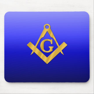 Mason Masonic with Gradient Blue Mouse Pad