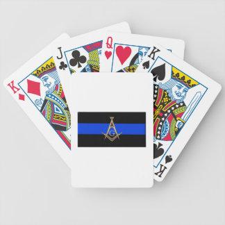 masonblueline bicycle playing cards