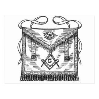 Masonic Apron Postcard