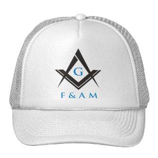 Masonic Ball Cap (White) Mesh Hat