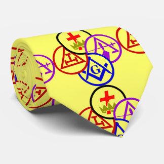 Masonic Block Tie