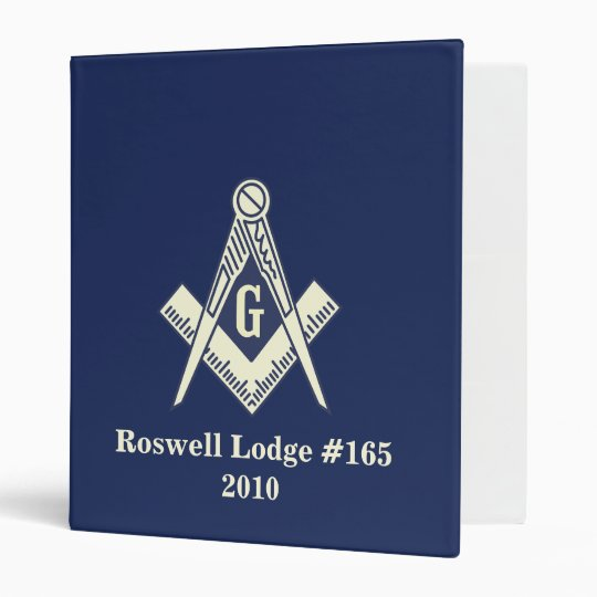 Masonic Blue Lodge Yearly Binder