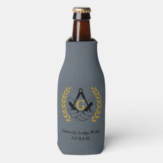 Masonic bottle cozy bottle cooler