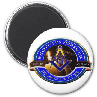 Masonic Brothers 2 Inch Round Magnet