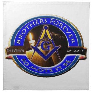 Masonic Brothers Napkin