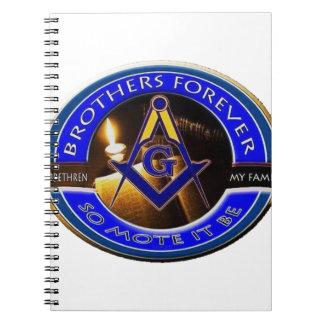 Masonic Brothers Spiral Notebook