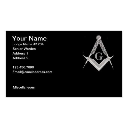 Masonic Business Card 3