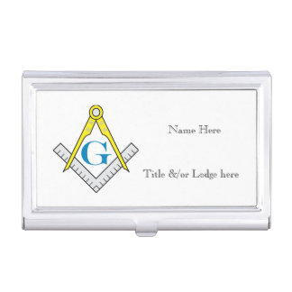 Masonic Business Card Case, personalized Business Card Holder