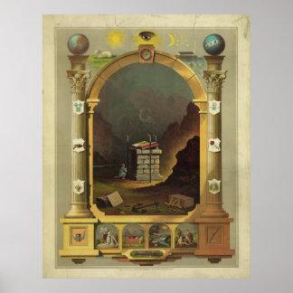 Masonic Chart Freemason Freemasonry
