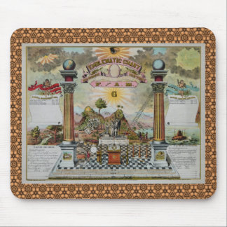 Masonic Chart  (with custom border) Mouse Pad