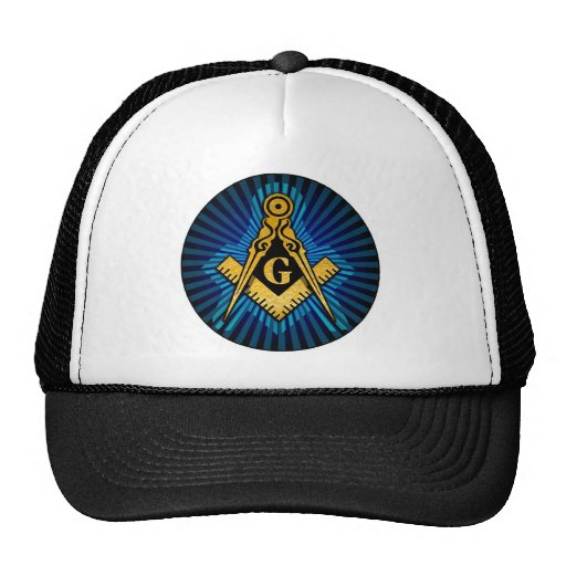 Masonic Compass and Square Trucker Hat