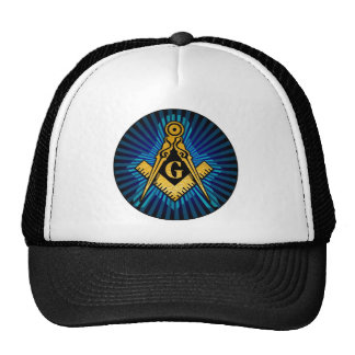 Masonic Compass and Square Trucker Hat