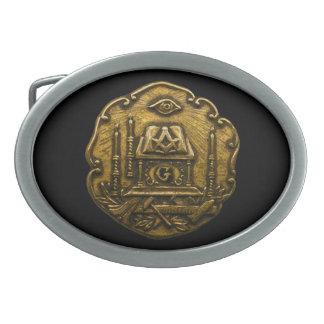 Masonic Disk Belt Buckle