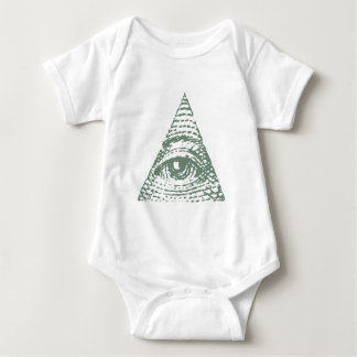 Masonic eye baby bodysuit