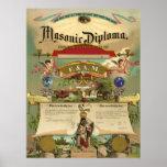 Masonic F&AM Diploma Poster