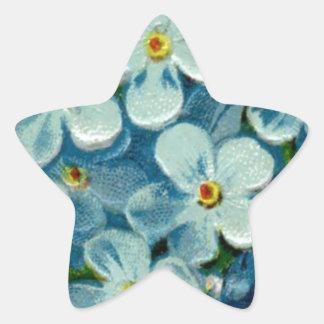 Masonic Freemason Forget-Me-Nots Star Sticker