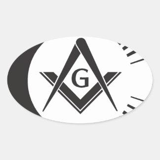 Masonic ,Freemason,Masons Oval Sticker