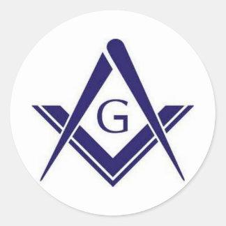 "Masonic ""G"" Products Classic Round Sticker"