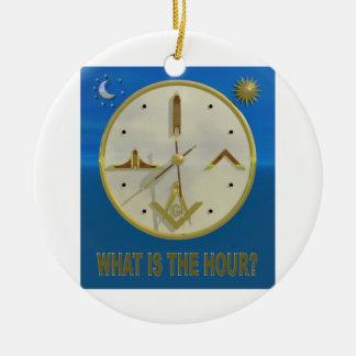 Masonic Hour Ceramic Ornament