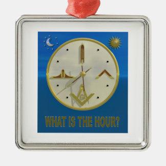 Masonic Hour Metal Ornament