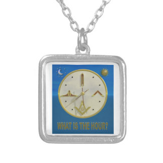 Masonic Hour Silver Plated Necklace