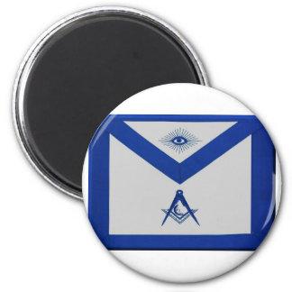 Masonic Junior Deacon Apron 2 Inch Round Magnet