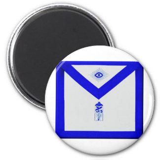 Masonic Junior Warden Apron 2 Inch Round Magnet